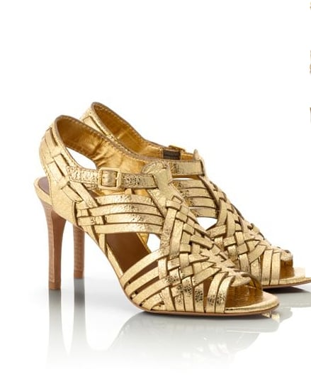 Tory Burch's Nadia sandals ($325) marry the laid-back woven feel with a bolder gold finish for a cool-girl effect.