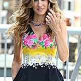 Sarah Jessica Parker smiles at an I Don't Know How She Does It photo call.