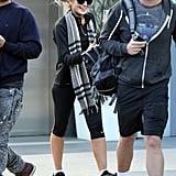 A Fresh-From-Rehab Lindsay Lohan Hits the Gym