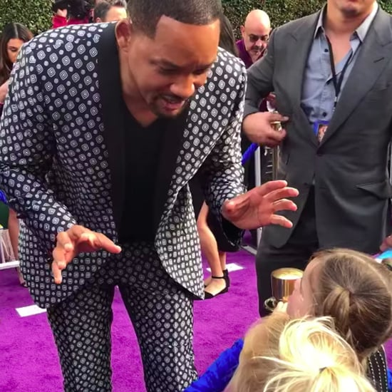 Little Girls Talking to Will Smith on the Red Carpet