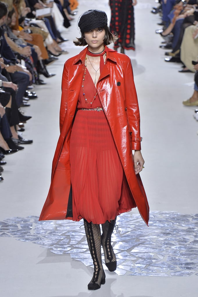 We know red is a power woman color and Amal wears it well. This dress would be fitting for her dinner dates with George or charity events. We might even suggest Amal give the trench coat a try — she can pull it off.