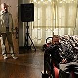 Aaron Paul and Bryan Cranston on Breaking Bad.
