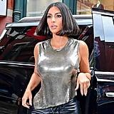 Kim Kardashian's Sleek Blunt Bob