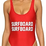 Go for graphics with the Private Party Surfboard Surfboard One Piece Bathing Suit ($99)