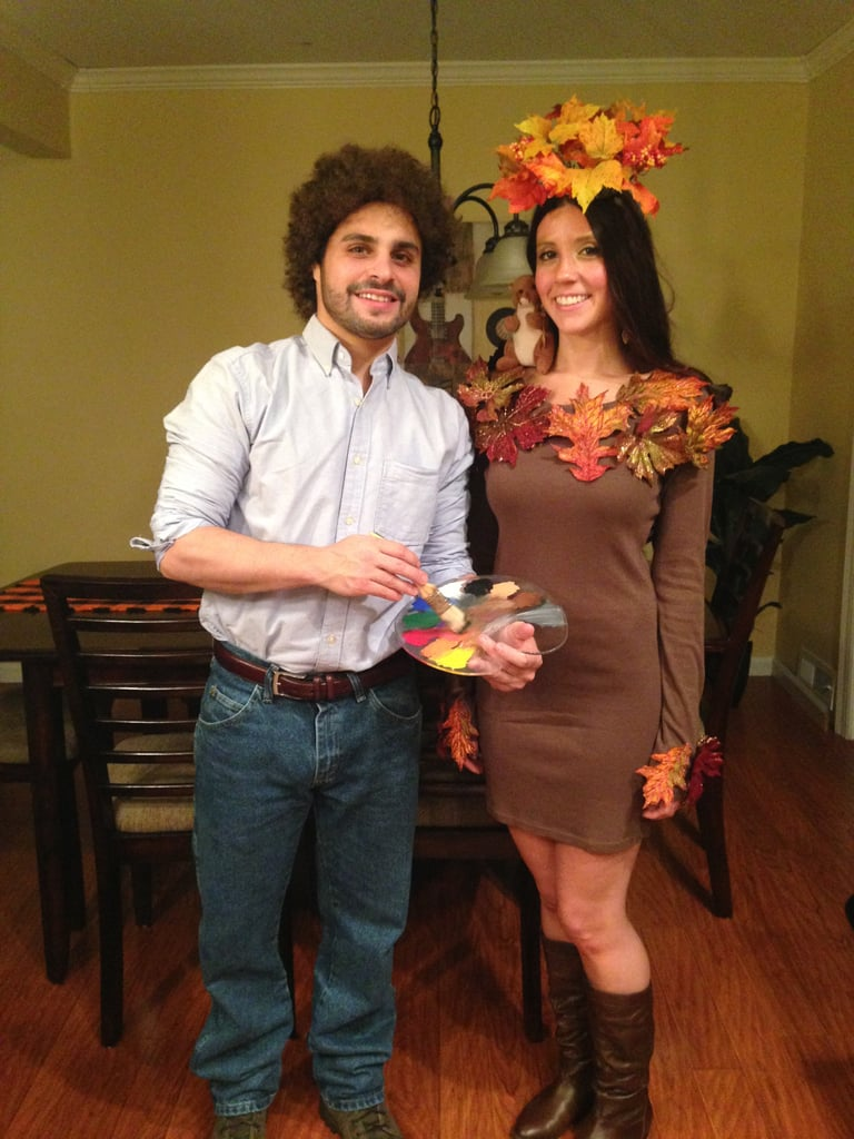 Bob Ross and Happy Little Tree  sc 1 st  Popsugar & Bob Ross and Happy Little Tree | Homemade Halloween Couples Costumes ...