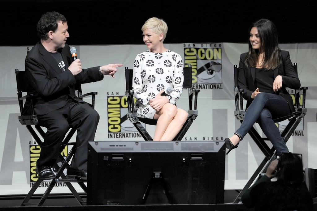 Sam Raimi joked with Michelle Williams and Mila Kunis during a chat about Oz: The Great and Powerful at Comic-Con.