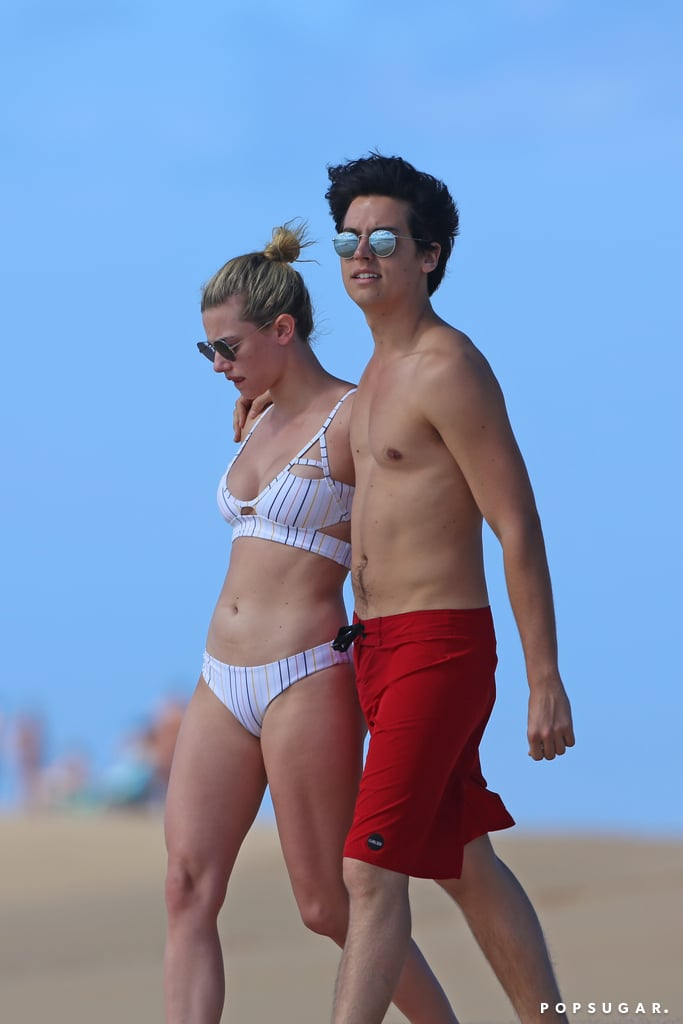 Cole Sprouse and Lili Reinhart in Hawaii January 2018
