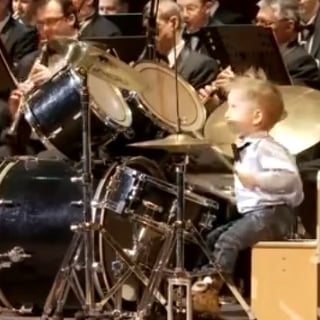 Drummer Kid Leading Band