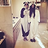 Demi Moore and Rumer Willis cozied up in matching animal onesies.