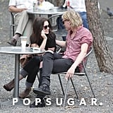 Jamie Campbell Bower and Lily Collins sat down for coffee.