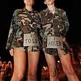 """Revelers parodying """"don't ask, don't tell"""" parade along Santa Monica Boulevard during last year's Halloween carnival in West Hollywood."""