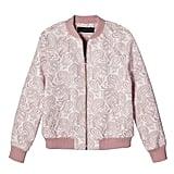 Blush Floral Jacquard Bomber Jacket  ($35)