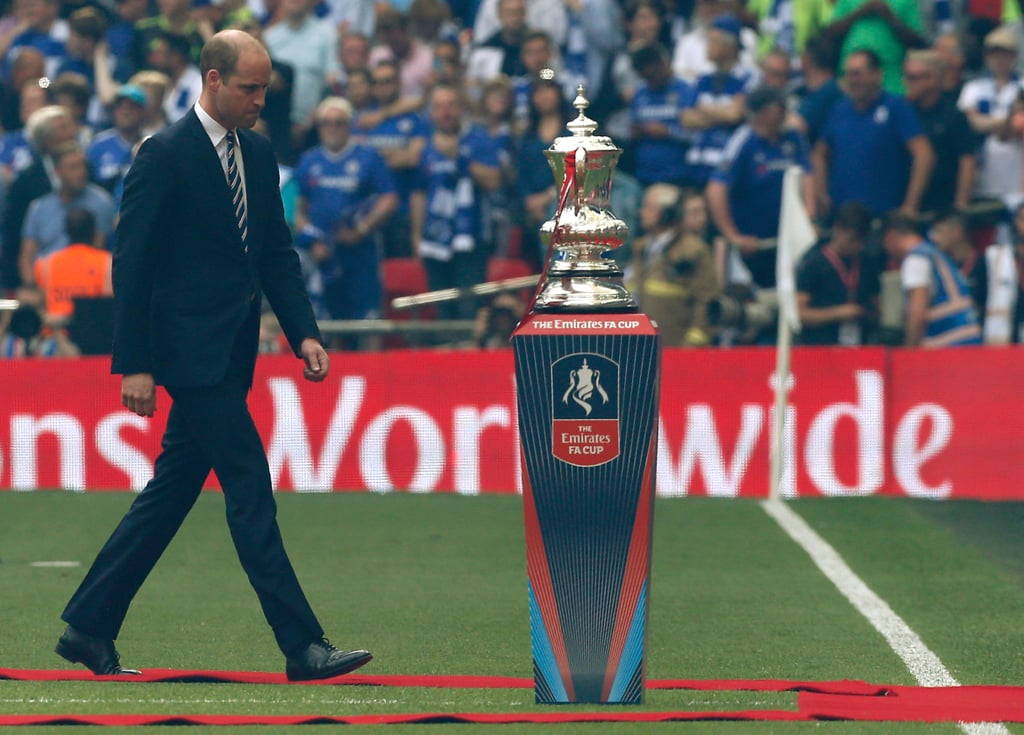 Prince William at the FA Cup Final in London May 2017