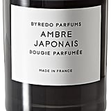 Byredo Ambre Japonais candle ($80), with notes of coriander, black pepper, bourbon, and vanilla.