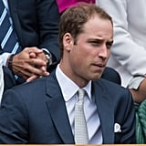 Prince William watched Wimbledon.
