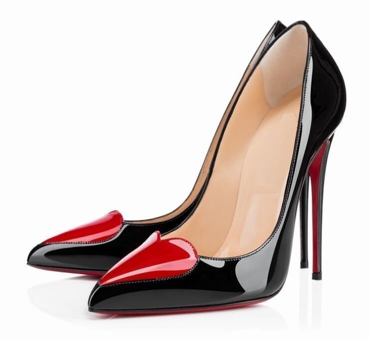 Bonanza Heart-Shaped Pointed-Toe Slip-On High Heel Pump
