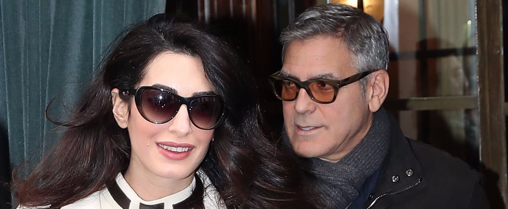 Amal Clooney Really Is Glowing During a Paris Stroll With George
