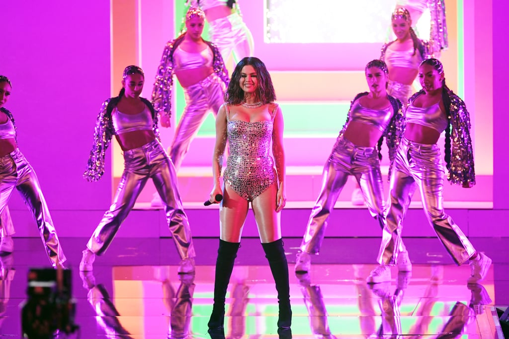 Selena Gomez's Crystal Bodysuit at the American Music Awards