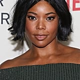 Gabrielle Union's Bob With Centre Part in 2018