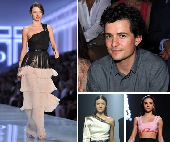 Miranda Kerr Runway Pictures at 2012 Paris Fashion Week With Orlando Bloom Watching Front Row