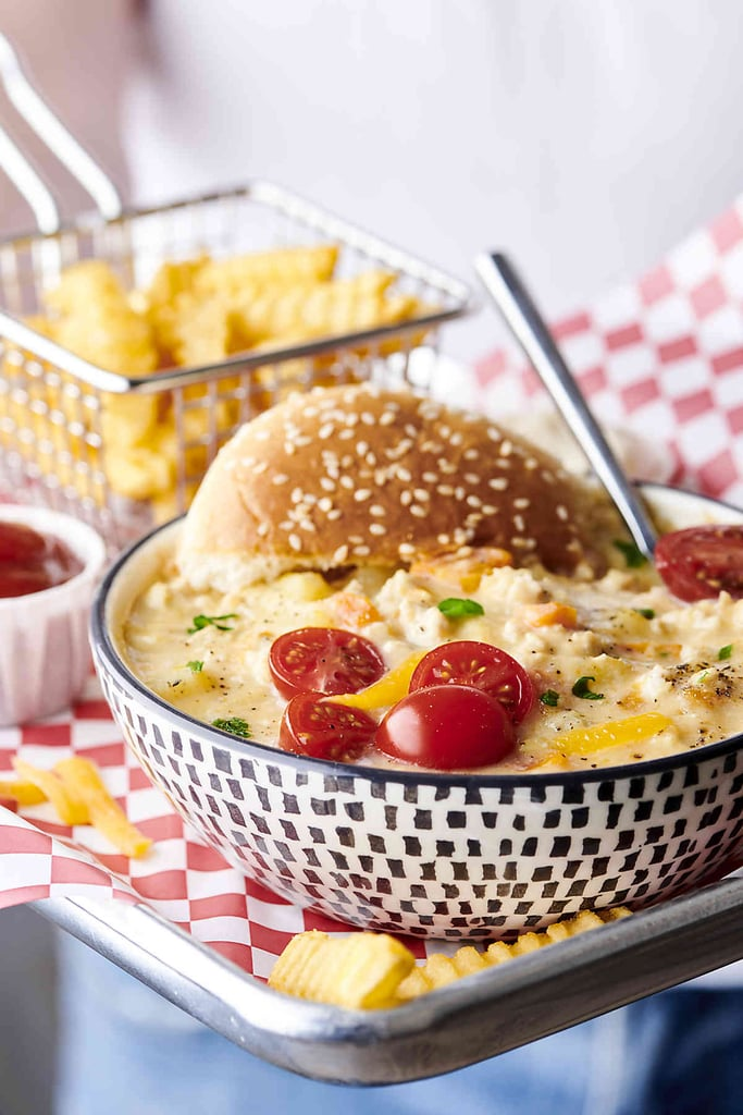 Healthy Instant Pot Turkey Cheeseburger Soup