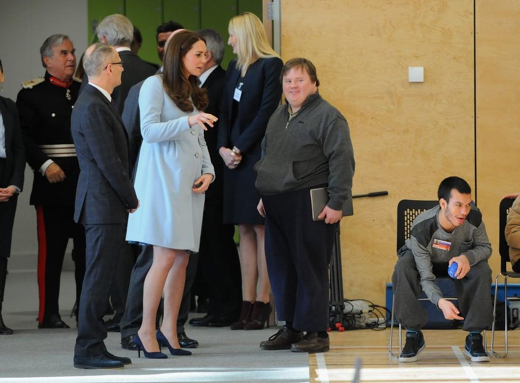 Kate Middleton Pregnant at the Kensington Leisure Center