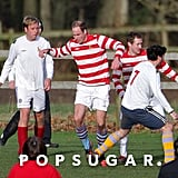 Prince William joined his brother, Prince Harry, to play soccer over the Christmas holiday in Norfolk, England.