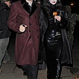Playing a very glamorous Morticia Addams to Jamie Hince's Gomez at Jonathan Ross's 2012 Halloween party, Kate managed to find a way to work her favourite colour into a fancy dress look!