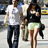 Ian Somerhalder and Nina Dobrev enjoyed the NYC sunshine during a stroll.