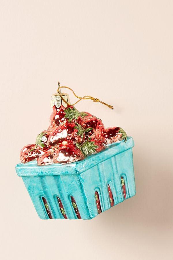 Strawberry Basket Ornament