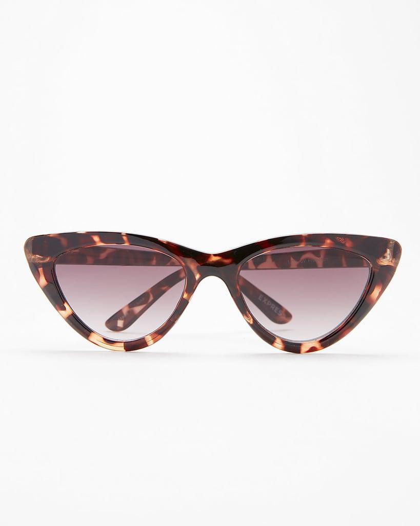 Express Tortoiseshell Cat-Eye Sunglasses