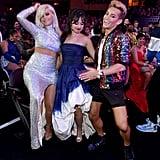 Bebe Rexha, Camila Cabello, and Frankie Grande