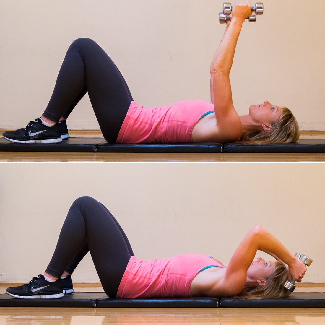 Circuit 1, Move 2: Lying Triceps Extension
