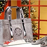 O loves Tory Burch, which is why the gray flannel Tory Tote ($250) and matching Reva ballerina flats ($195) are on her list of faves.