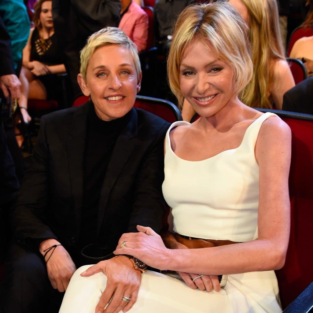 Ellen And Portia Ellen Degeneres Portia De Rossi Peoples Choice Awards 2016