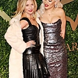 Kate Moss and Rita Ora dazzled on the red carpet at the British Fashion Awards in London.