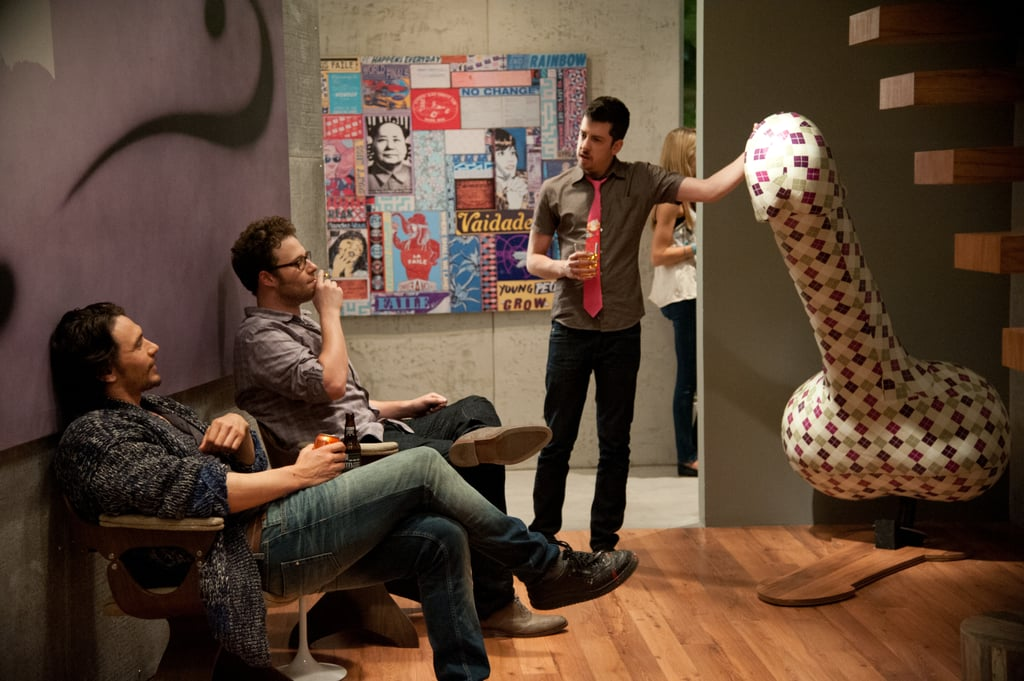 James Franco, Christopher Mintz-Plasse, and Seth Rogen in This Is the End.
