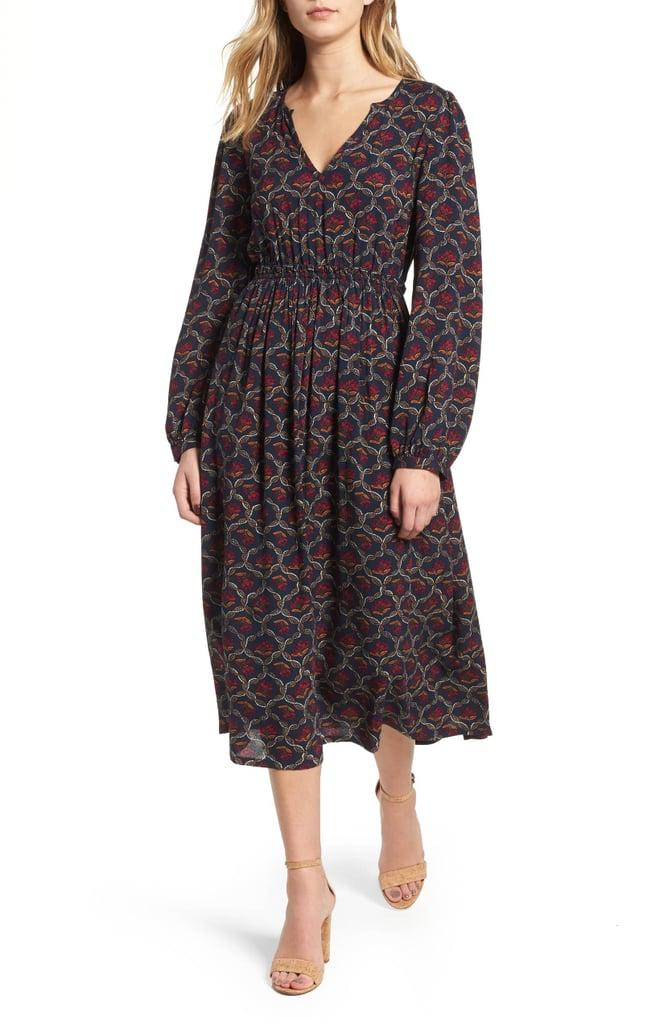 Hinge Print Midi Dress
