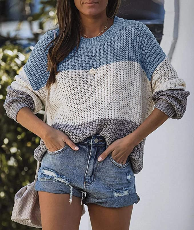 A Fashionable Striped Sweater