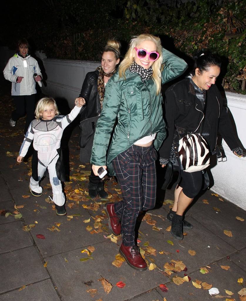 Gwen Stefani and Zuma Rossdale spent Halloween in London.