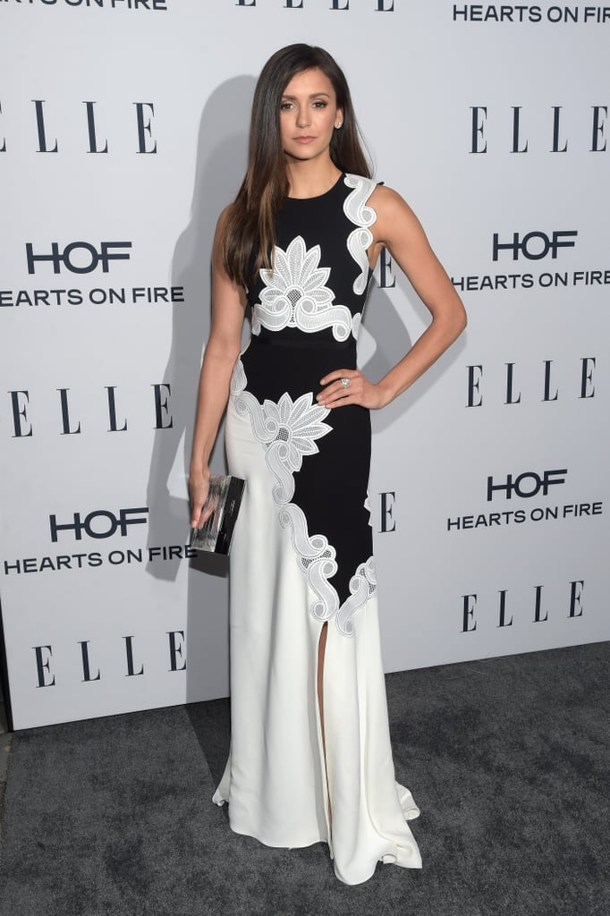 It was all about celebrating powerful women in television at Elle's 6th annual Women in Television dinner in West Hollywood on Wednesday evening. A collection of stars gathered at the Sunset Tower Hotel for the event, including Nina Dobrev, who stunned in a black and white gown, and Modern Family's Sarah Hyland. Also in attendance were the magazine's January cover stars, How to Get Away With Murder's Viola Davis, Quantico's Priyanka Chopra, and HBO's Vinyl star Olivia Wilde, who arrived without her husband, Jason Sudeikis. Meanwhile, actresses Sara Raftery and Abigail Spencer shared a sweet hug outside and Tracee Ellis Ross struck poses on the red carpet following her recent #OscarsSoWhite joke. Read on to see more highlights from the star-studded night.
