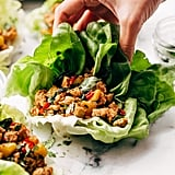 Springtime Basil Chicken Lettuce Wraps