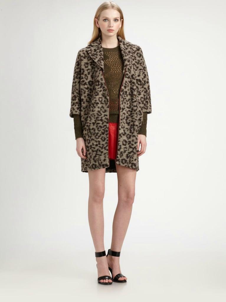 Thakoon Leopard-Print Fleece Coat ($297, originally $660)