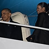 Michelle Obama Red Shirtdress in Hawaii December 2016