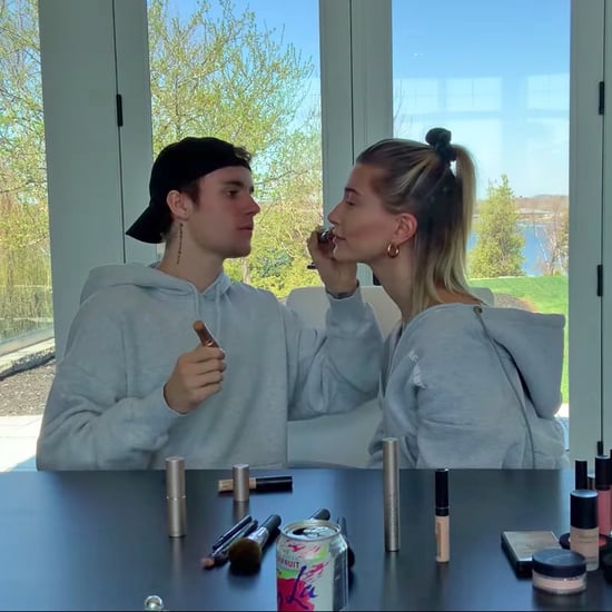 Justin Bieber Does Hailey Bieber's Makeup | Video