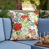 Adrianne Indoor/Outdoor Floral Throw Pillow