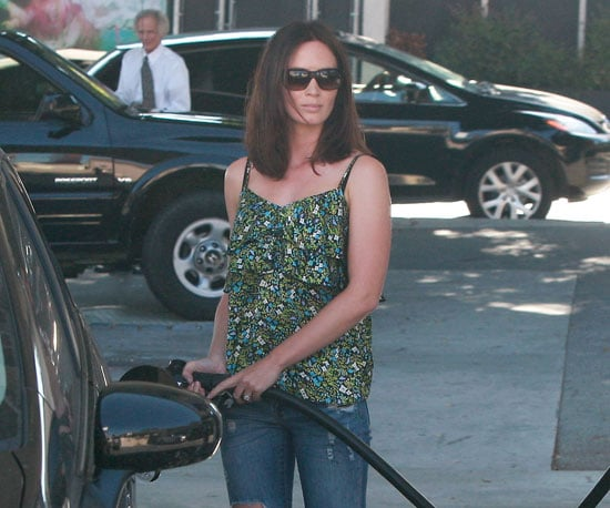 Slide Picture of Emily Blunt Pumping Gas in LA