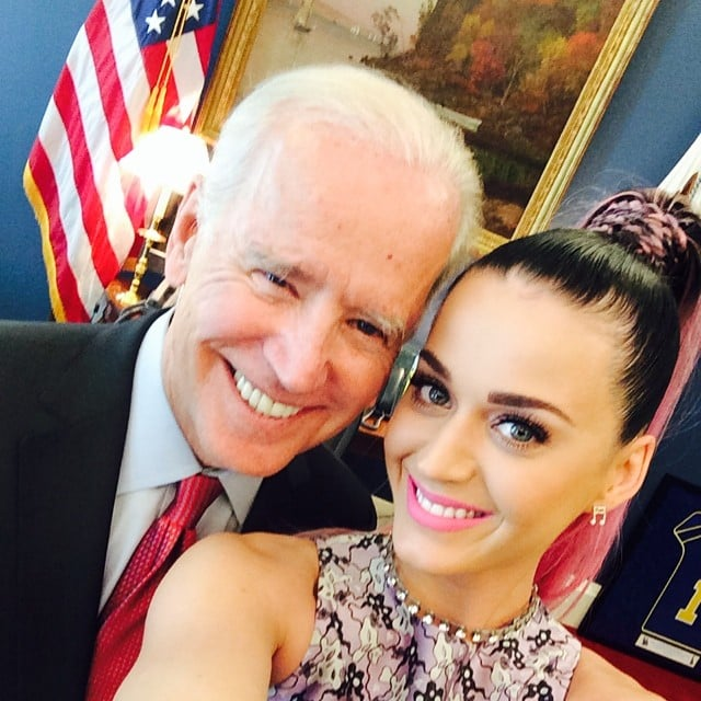 "Katy Perry brought her ""pink pony to the White House to holler"" at Vice President Joe Biden in June 2014."