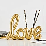 Pottery Barn Emily & Meritt Love Pencil Holder