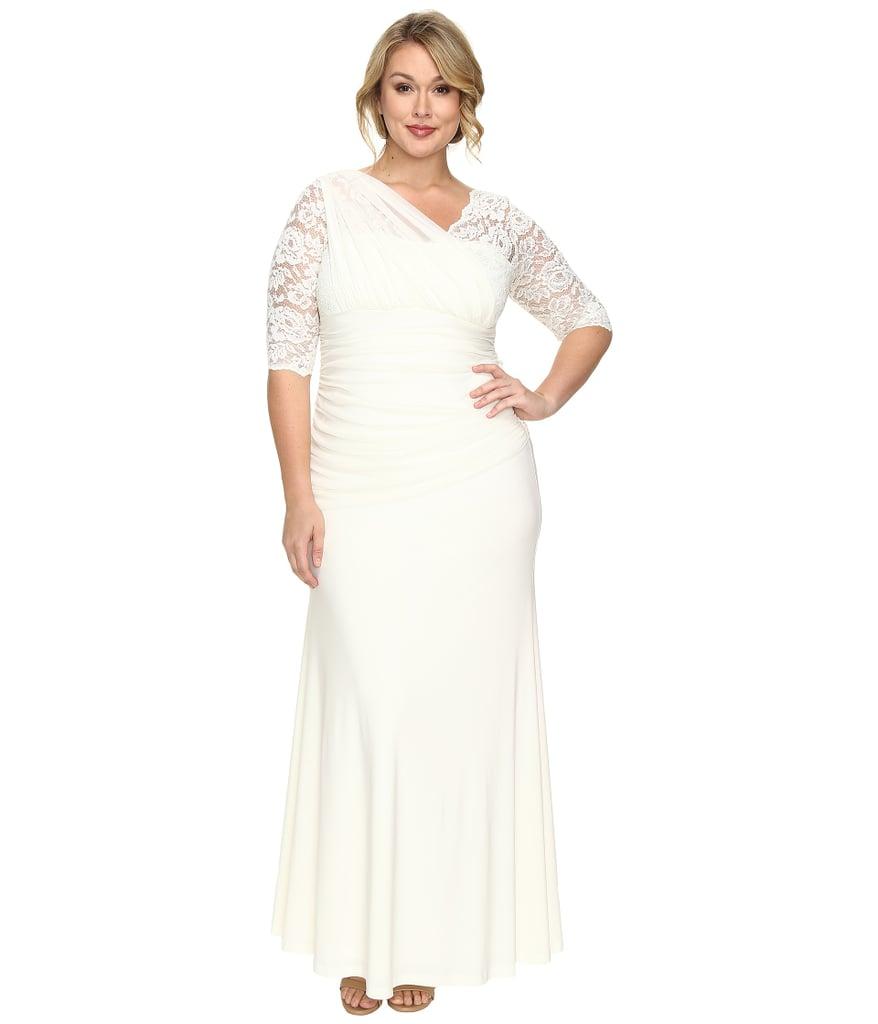Kiyonna's Elegant Aisle Wedding Dress